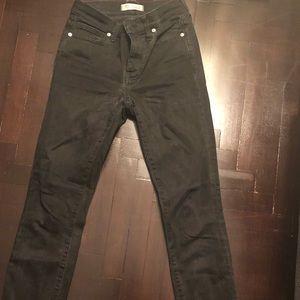 Madewell high rise skinny jean grey wash size 25